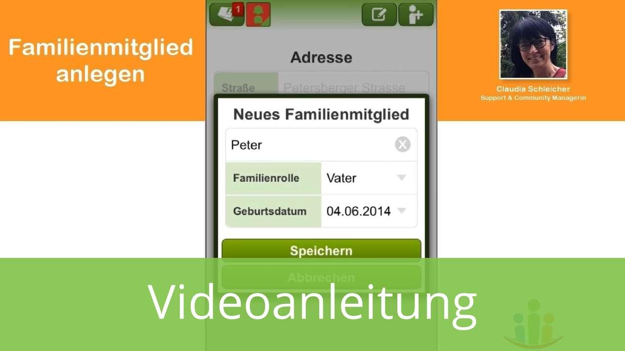 Neues Familienmitglied in Familien App einladen