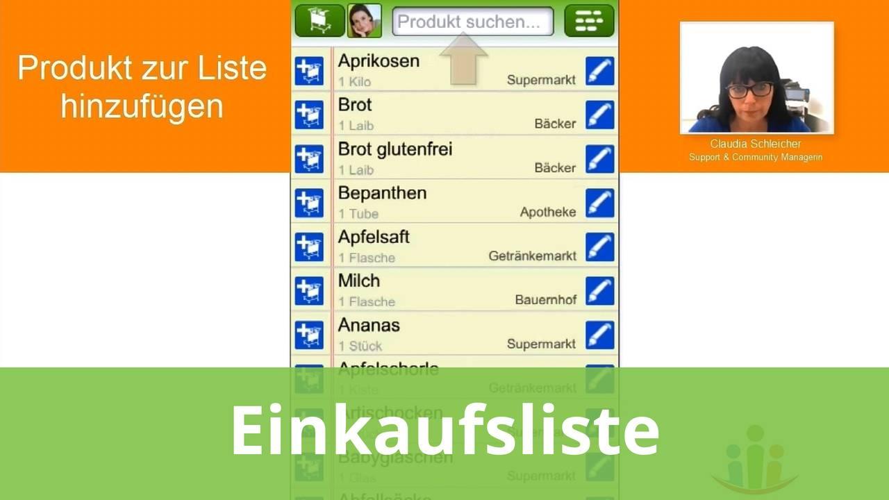 Einkaufsliste App