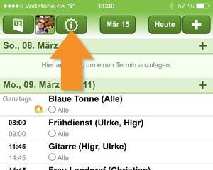 Kalenderimport Smartphone