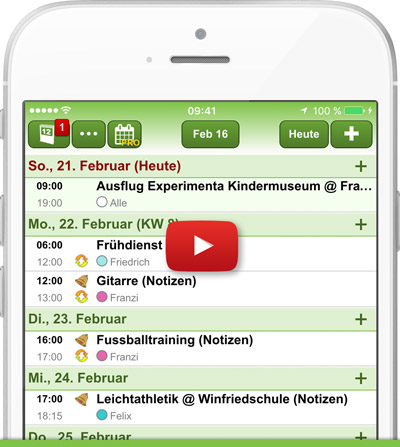 Familienkalender iPhone