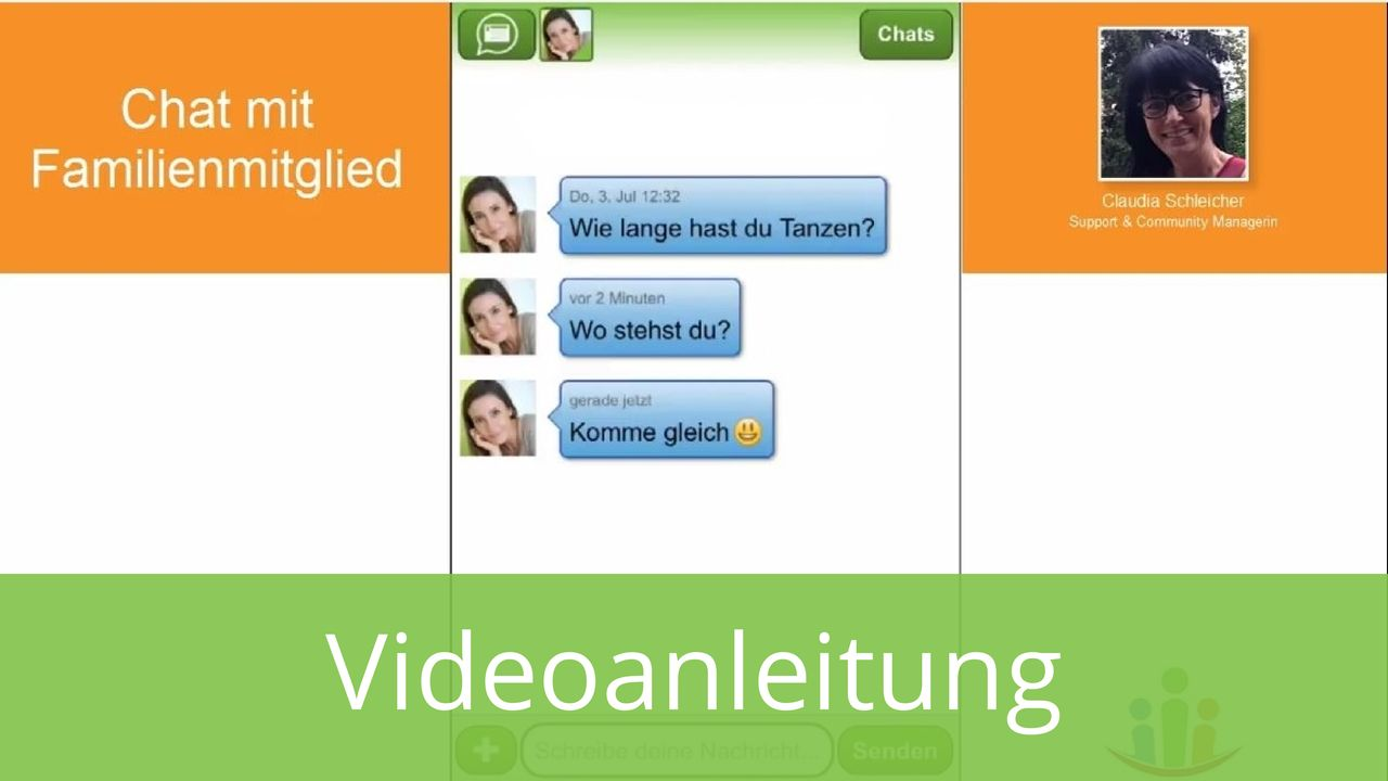 Familienchat mit Familienmitglied