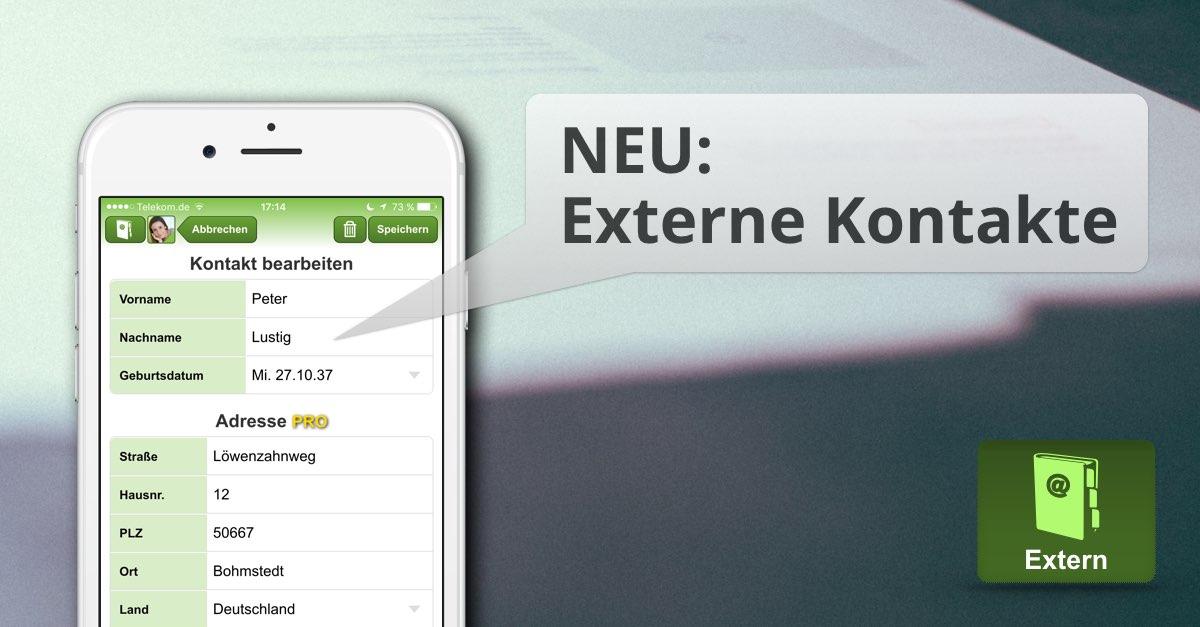 Externe Kontakte FAMANICE App
