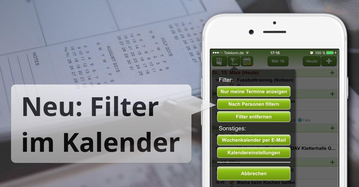 Filter für Familienkalender